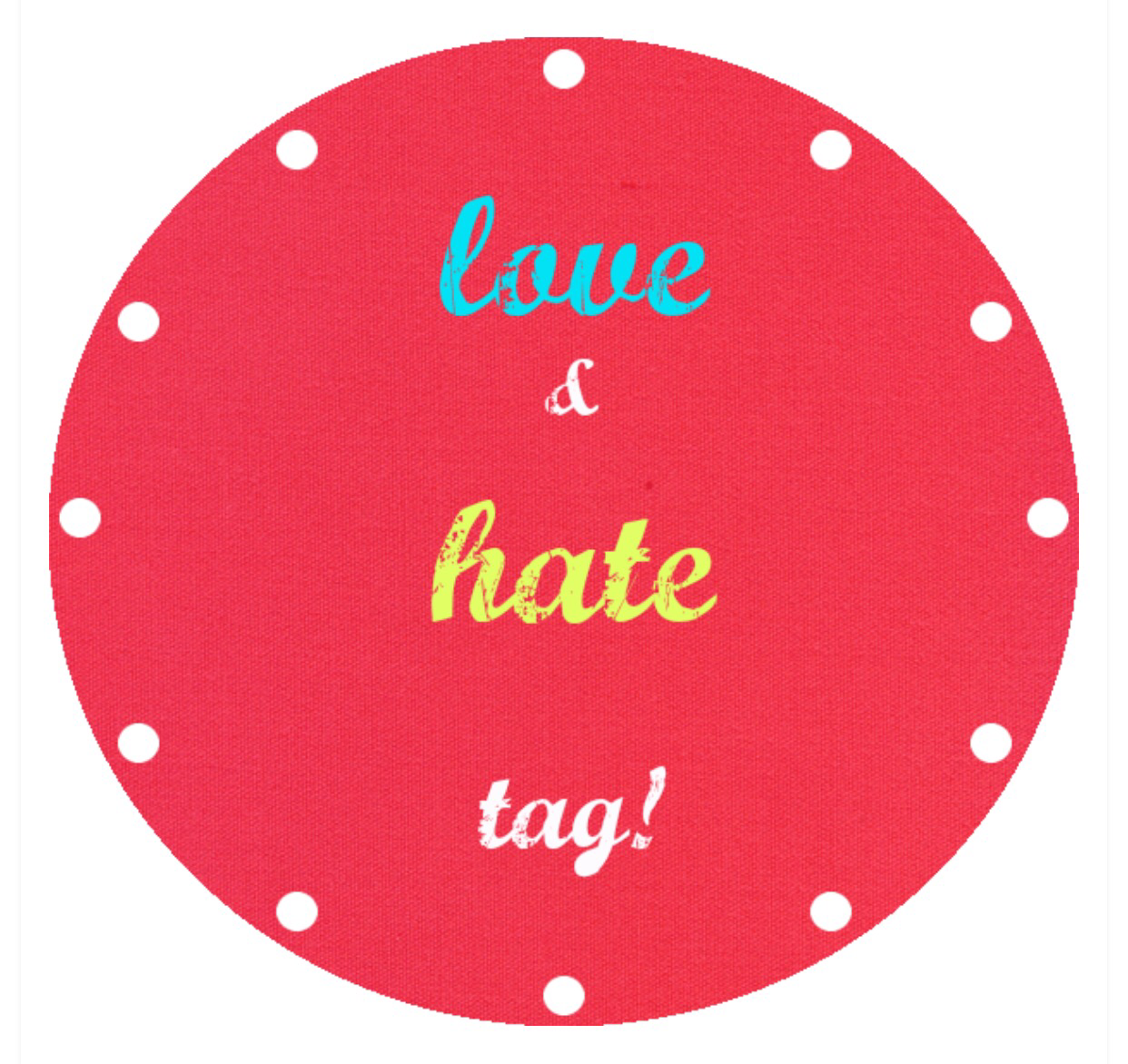 About Me : Love Hate Tag!