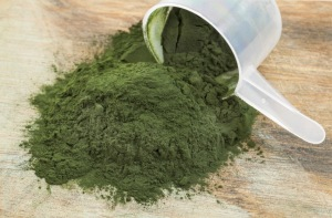 Powdered spirulina