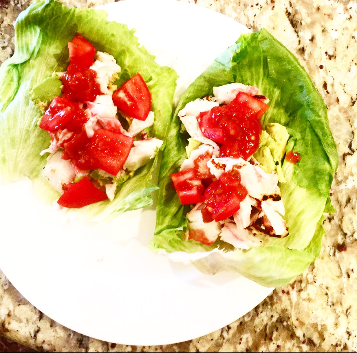 Organic lobster lettuce wraps